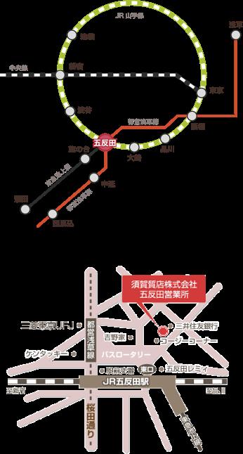 五反田アクセスマップ