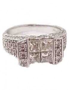 ダイヤモンド付きプラチナ ファッションリング