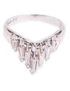 ダイヤ付きプラチナ製のリング