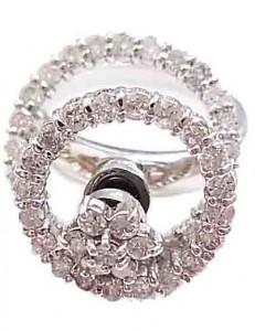 プラチナ製 ダイヤ付きファッションリング