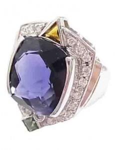 サファイア付きプラチナ指輪