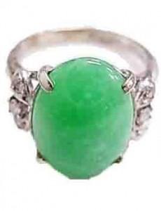 指輪 ひすい付き指輪