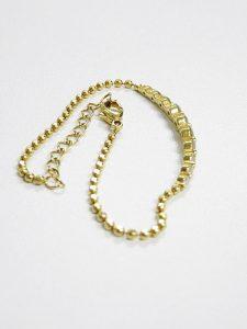 18金 ダイヤ 数珠 ネックレス