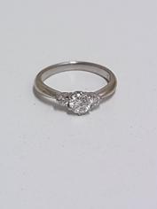 プラチナ製ダイヤ付きリングの買取
