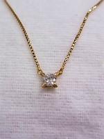 18金 ダイヤモンドつきネックレスの買取
