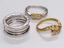ブルガリ指輪 18金指輪 プラチナ900指輪を買取