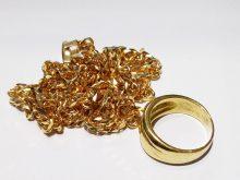 18金ネックレスと指輪を買取