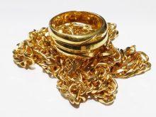 K18指輪、750喜平ネックレスを買取