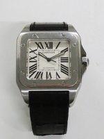 カルティエのサントス100の時計の高価買取