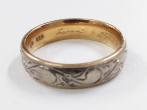 18金甲丸指輪を買取