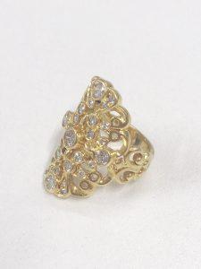 18金の指輪、ダイヤモンド付き買取