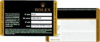 ロレックスの保証書