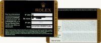 ロレックスのプラスチック保証書