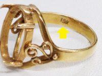偽物18金指輪