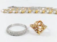 メレダイヤ付きプラチナ、18金指輪買取