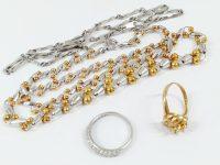 18金指輪、金とプラチナのコンビネックレス、高価買取