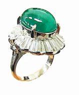 カボションエメラルド指輪