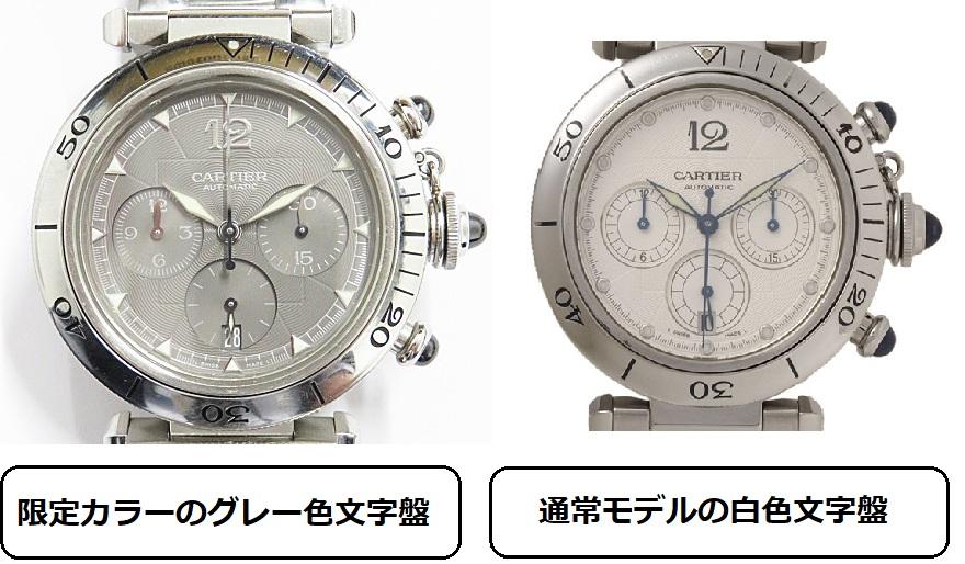 カルティエ パシャの時計比較