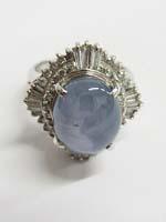 スターサファイアとメレダイヤモンドつきリングの買取