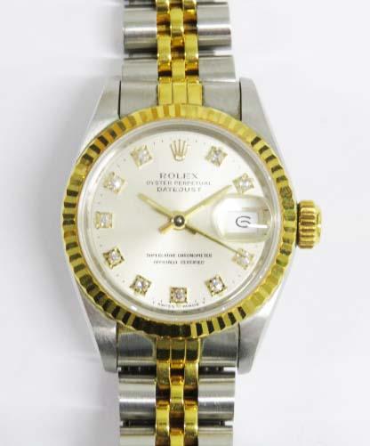 買取したロレックスのデイトジャスト69173Gの時計