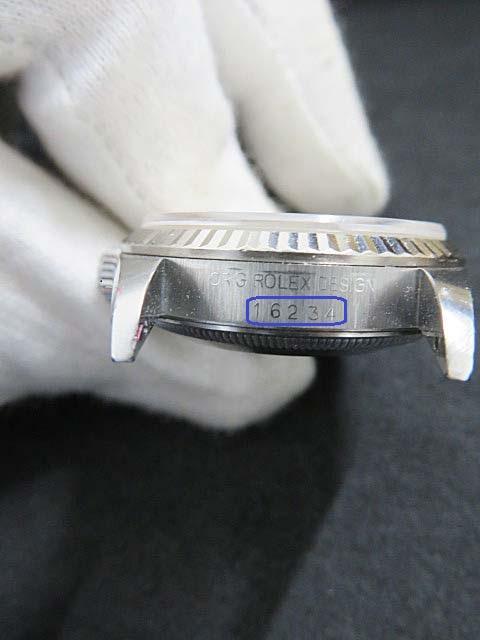 ロレックスの時計の型番の刻印 16234