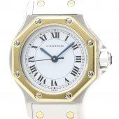 買取したカルティエ サントスオクタゴンの時計 ベゼル金