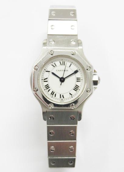 買取したカルティエ サントスオクタゴンSMの時計