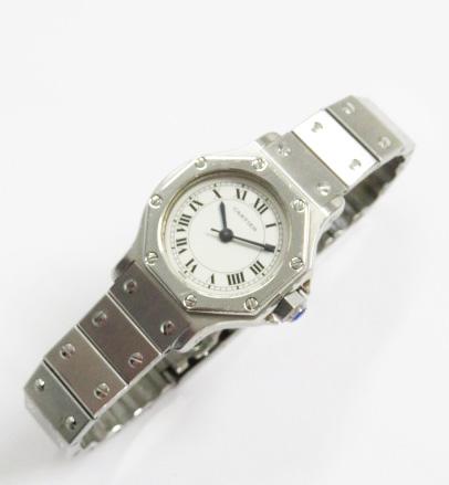 カルティエの時計を高価買取致します!~カルティエ サントスオクタゴンSM時計の場合~