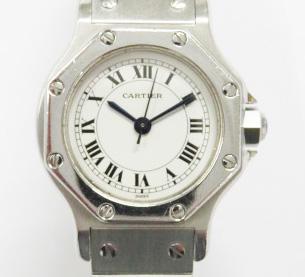 買取したカルティエ サントスオクタゴンの時計