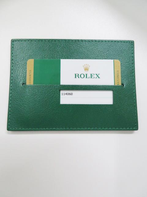 高価買取したロレックスのサブマリーナ ノンデイト114060型の時計の保証書