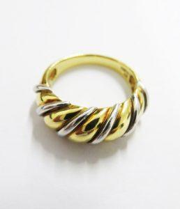 買取した金とプラチナのコンビの指輪