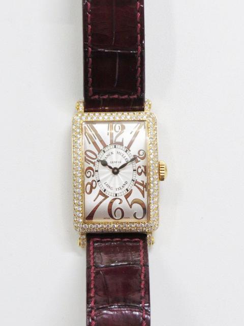 フランクミュラーのロングアイランド ベゼルダイヤ付きの時計