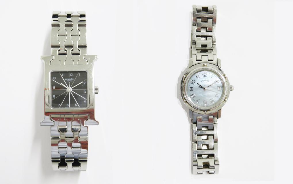 エルメス Hウォッチとクリッパーの時計