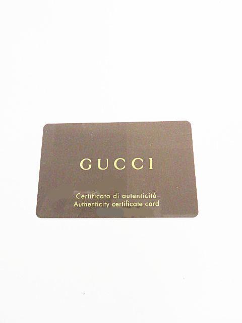 買取したグッチ(GUCCI)のサングラスのギャランティカード 保証書