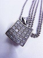 ダイヤモンド付きネックレス Pt850 D1.02ct